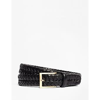Brooks Brothers Men's Leather Braided Belt