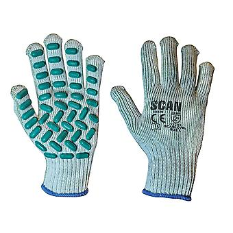 Scan Vibration Resistant Latex Foam Gloves - Large (Size 9)