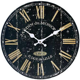 Etwas anderes 34cm Uhr schwarz Französisch