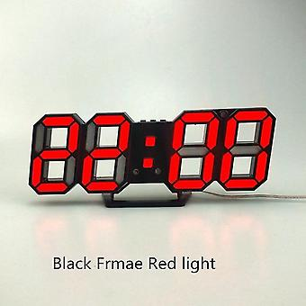 3d Led Modern Design Nightlight Digital Wall Clock