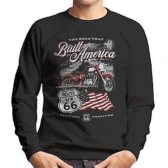 Route 66 Road That Built America Men's Sweatshirt
