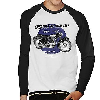 BSA Greatest Of Them All Golden Flash Men's Baseball Long Sleeved T-Shirt