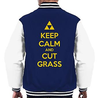 Legend Of Zelda Keep Calm And Cut Grass Men's Varsity Jacket