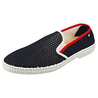 Rivieras Tdm Mens Espadrille Shoes in Navy Red