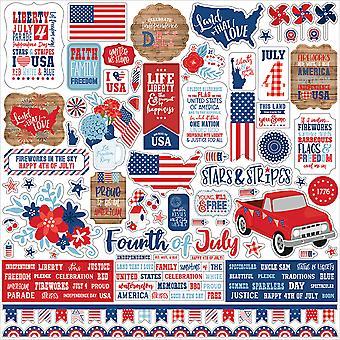 Echo Park America 12x12 Inch Element Sticker