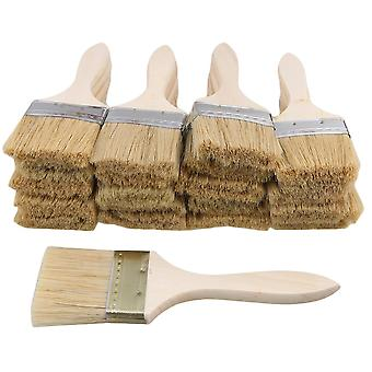 20pcs Thin Wooden Handle Paint Brush 2.5 inch