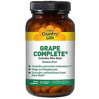 Vita di campagna, uva completa, include corteccia di pino, 90 capsule vegetariane