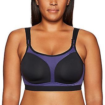 Brand - Arabella Women's No Wire Sport Bra, Black/Sport, 38DD