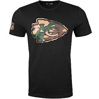 جديد عصر قميص - NFL كانساس سيتي رؤساء الأسود / الخشب كامو