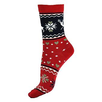 Femmes-apos;s Christmas Season Casual Cotton Girls Over Ankle Socks 4-6 Royaume-Uni