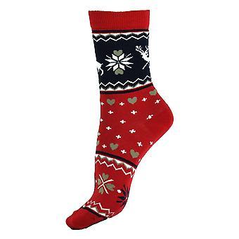Naiset & apos; joulun aikana rento puuvilla tytöt yli nilkan sukat 4-6 UK