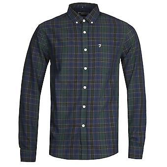 Farah Edina Check Oxford Camiseta Verde