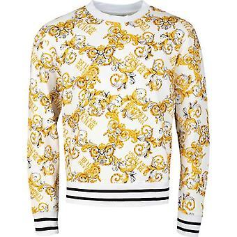 Versace Jeans Couture Över barock Print Crew Neck Sweat
