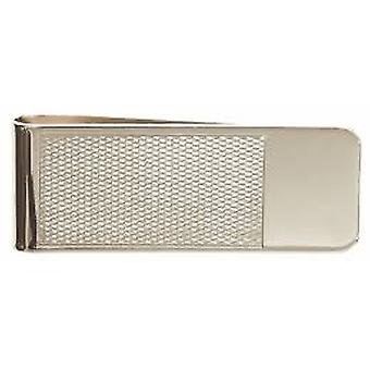 Textured Silver Money Clip