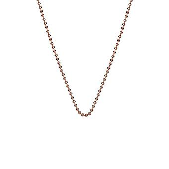 """Emozioni 30"""" Rose Gold Plated Silver Bead Chain CH008 Emozioni 30"""" Rose Gold Plated Silver Bead Chain CH008"""