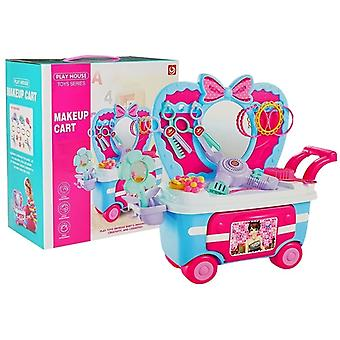 Children's Toy Beauty Set in Handy Trolley With Accessories - 35x31x17.5 Cm