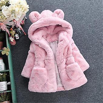 Kurtki zimowe dla niemowląt, płaszcze z kapturem Ciepła kurtka