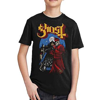 Ghost Kids T Shirt Advanced Pied Piper Band Logo Official Black Ages 5-14 yrs