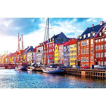 Nyhavnin laituri Kööpenhaminassa