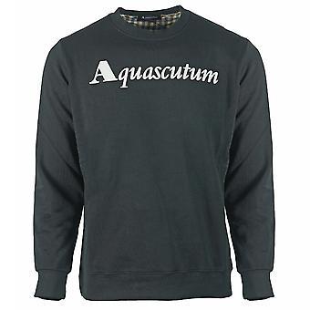 Aquascutum Box Logo Musta Collegepaita