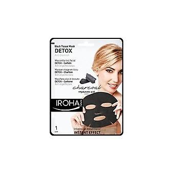 Iroha Kol & Hyaluronsyra Anti-fläck Detox Sheet Ansiktsmask