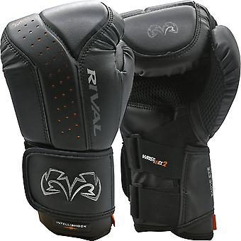 Rival Boxing RB10 Intelli-Shock Hook and Loop Bag Gloves - Black