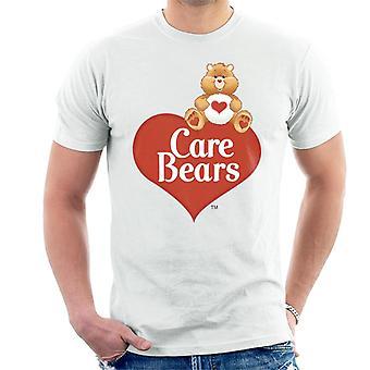 Care Bears Logo Tenderheart Bear Men's Camiseta