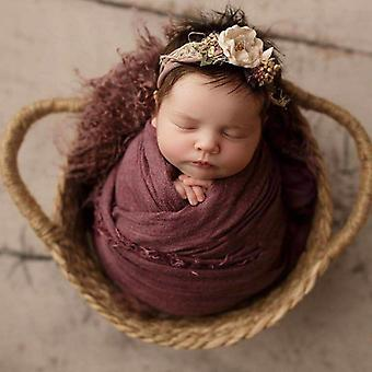 Newborn Basket Photography Props,handwoven Baby Bed For Photography Props