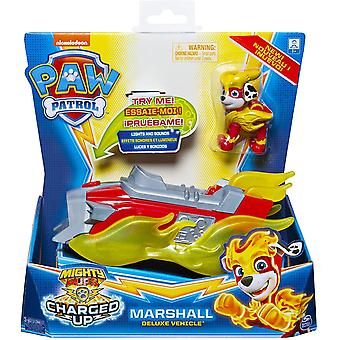 PAW PATROL Mighty Pups Charged Up Deluxe Vehicle - MARSHALL