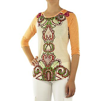 Custo Barcelona Women T-shirt Less Paisley Multicolor