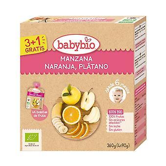 Luomu omenaoranssi banaanipussi 4 yksikköä 90g