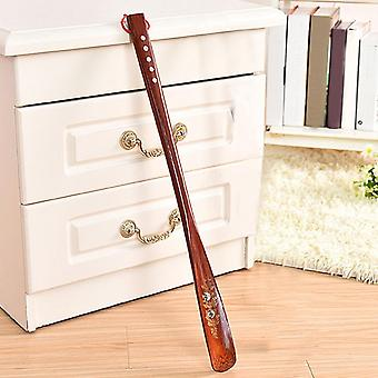 Wooden Flexible Durable Portable Practical Useful Stick Home Lifter Shoe Horn