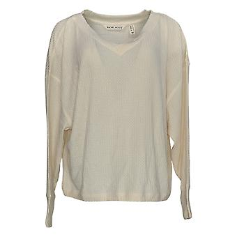 Rachel Hollis Ltd. Women's Sweater V-Neck Long-Sleeve Sweater Ivory A368006