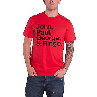 The Beatles John Paul George and Ringo logo Official Mens New T Shirt