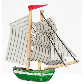 Dolls House Miniature 1:12 Scale Ornament Accessory Toy Sail Boat Sailing Ship