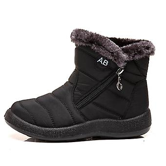 Winter Warm Ladies Casual Zipper Snow Boots