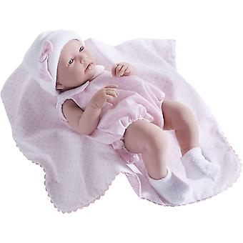 """JC Toys La Newborn - Realistic 17"""" Anatomically Correct & REAL GIRL & Baby Doll  - Made in Spain"""