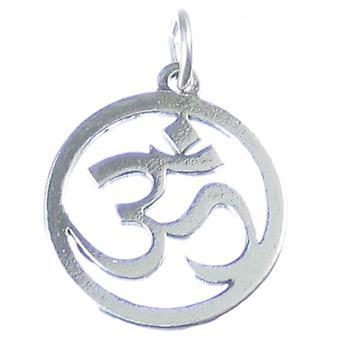Om Sanskrit Omkara Sterling Silver Charm .925 X 1 Yoga Peace Charms - 4150
