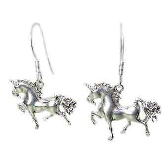 Einhorn Sterling Silber Ohrringe .925 X 1 Paar Einhörner - 8476