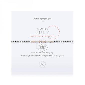 Joma joyería una pequeña piedra de nacimiento julio piedra de sol plata 17.5cm pulsera elástica 3466