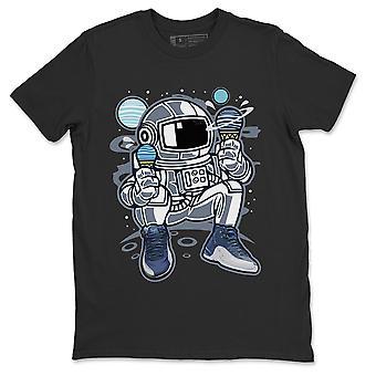 Astronaut Jordan 12 stein blå sneaker skjorte - AJ12 Indigo Tee Indigo