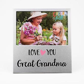 Widdop & Co. Aluminium Frame 6 X 4 - Love You Great Grandma