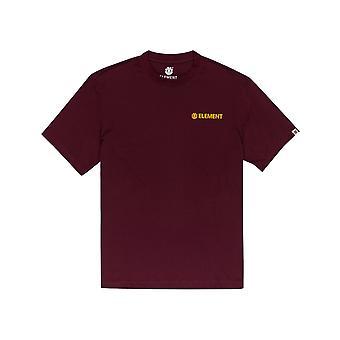 Elemento Blazin Chest T-Shirt de manga curta em vermelho vintage