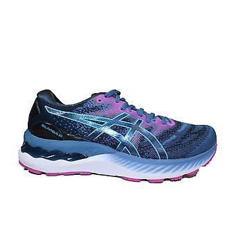 Asics Gel-Nimbus 23 Shark/Aqua Mesh Wide Fit Womens Running Trainers