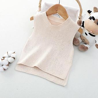 Baby Solid Sleeveless Pullover Vest Sweaters
