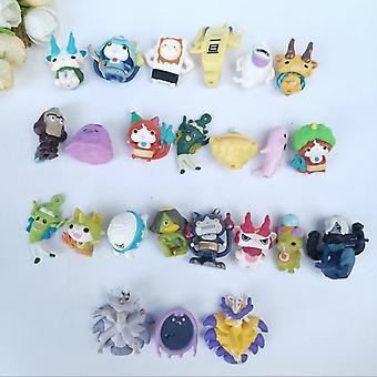 Rajzfilm anime akciófigurák, miniatűr kapszula babák