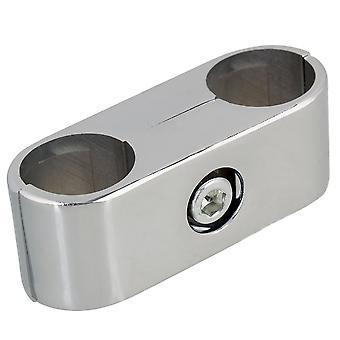 25mm Display Rack Clamp Rohrverschraubungen Double Hole Composite Tube Connector
