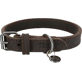 Trixie Collar piel Rustic Marrón Oscuro (Dogs , Collars, Leads and Harnesses , Collars)