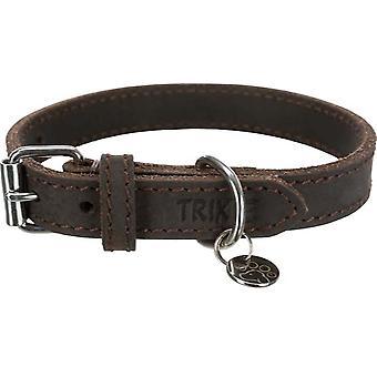 Trixie Collar piel Rustic Marrón Oscuro (Hundar, Krage, Leads och Selar, Krage)