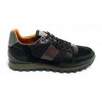 حذاء الرجال الطموح 8449 حذاء رياضي تشغيل لون أسود U21am06